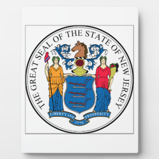 New Jersey State Seal Display Plaque