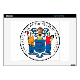 New Jersey State Seal Laptop Decals