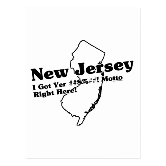 New Jersey State Slogan Postcard