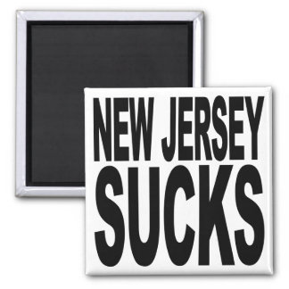 New Jersey Sucks 2 Inch Square Magnet