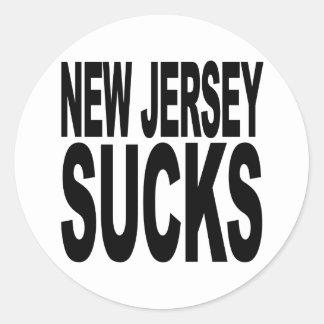 New Jersey Sucks Classic Round Sticker
