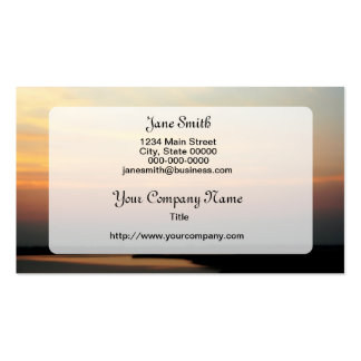 New Jersey Sunset Double-Sided Standard Business Cards (Pack Of 100)