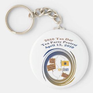 New Jersey Tax Day Tea Party Protest Keychain