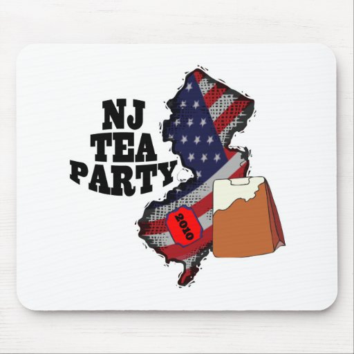new jersey tea party 2010 mouse pad