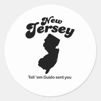 New Jersey - Tell em Guido sent you Classic Round Sticker