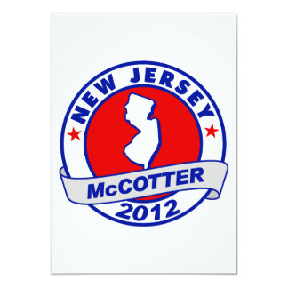 "New Jersey Thad McCotter 5"" X 7"" Invitation Card"