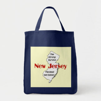 New Jersey: the strong survive; the rest get eaten Canvas Bag