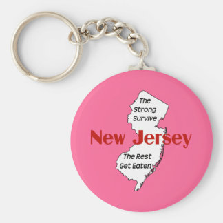 New Jersey: the strong survive; the rest get eaten Keychain