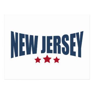 New Jersey Three Stars Design Postcard