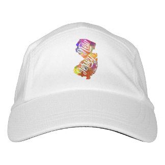 New Jersey U.S. State in watercolor text cut out Headsweats Hat