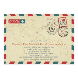 New Jersey / UK Airmail | Wedding Card