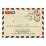 New Jersey / UK Airmail | Wedding 5x7 Paper Invitation Card
