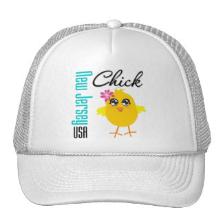 New Jersey USA Chick Trucker Hat