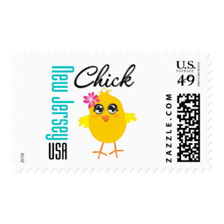 New Jersey USA Chick Postage Stamp