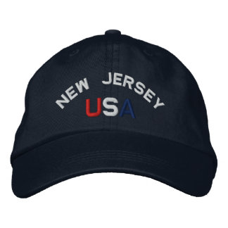 New Jersey USA Embroidered Navy Blue Hat
