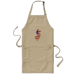 New Jersey USA flag silhouette state map Long Apron