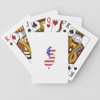 New Jersey USA flag silhouette state map Deck Of Cards
