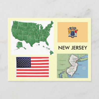 United States Map New Jersey