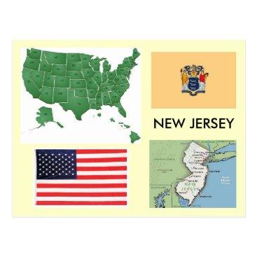 USA Themed New Jersey, USA Postcard