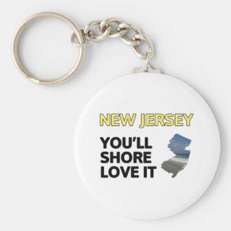 New Jersey Usted apuntalará amor él Llaveros