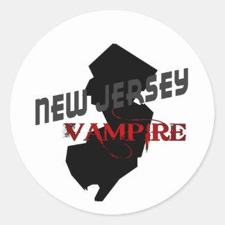 NEW JERSEY vampire Classic Round Sticker