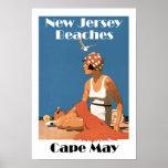 New Jersey vara el ~ Cape May Póster