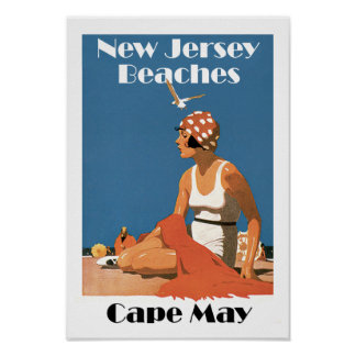 New Jersey vara el ~ Cape May Póster