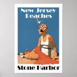 New Jersey vara el puerto de piedra del ~ Poster