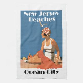 New Jersey vara la ciudad del océano del ~ Toalla De Mano