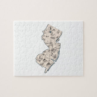 New Jersey Vintage Picture Map Puzzle