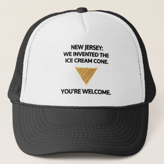 New Jersey: We invented the ice cream cone. Trucker Hat