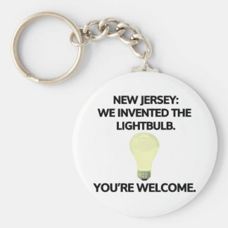New Jersey: We invented the light bulb. Keychain