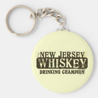 New Jersey Whiskey Drinking Champion Keychains