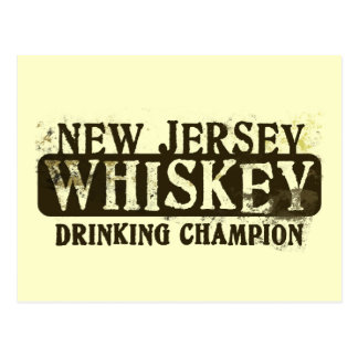 New Jersey Whiskey Drinking Champion Postcard