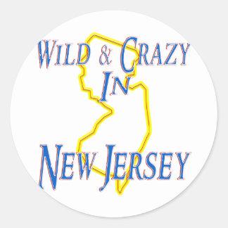 New Jersey - Wild and Crazy Classic Round Sticker