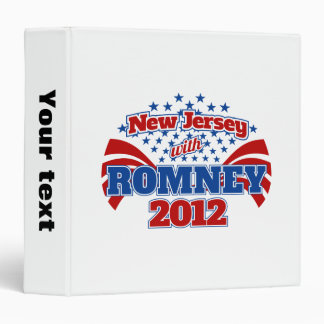 New Jersey with Romney 2012 3 Ring Binder