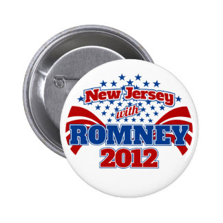 New Jersey with Romney 2012 Button