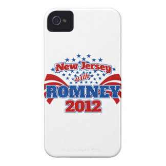 New Jersey with Romney 2012 iPhone 4 Cases