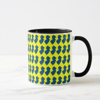 New Jersey Yellow and Blue Mug