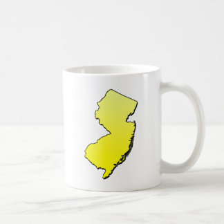 New Jersey Yellow Outline Coffee Mug