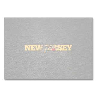 New Jerseyan name and flag Table Card