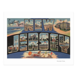 New JerseyLarge Letter ScenesNew Jersey Postcards