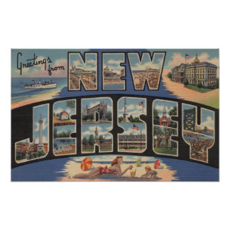 New JerseyLarge Letter ScenesNew Jersey Poster