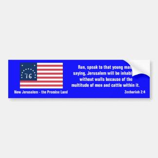 New Jerusalem - the Promise Land Car Bumper Sticker