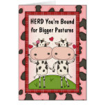 New Job or Promotion Congratulations - Cows Greeting Card