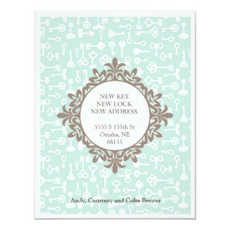 New Key Moving Annoucement 4.25x5.5 Paper Invitation Card