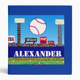 New Kids Baseball Binder Personalized Sports Gift