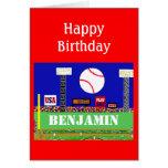 New Kids Baseball Happy Birthday Card Gift