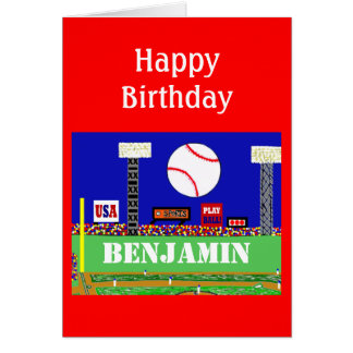 New Kids Baseball Happy Birthday Card Gift