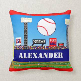 New Kids Baseball Personalized Throw Pillow Gift